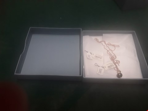 Lot 1010 BOXED SKAGEN ROSE GOLD NECKLACE  RRP £199