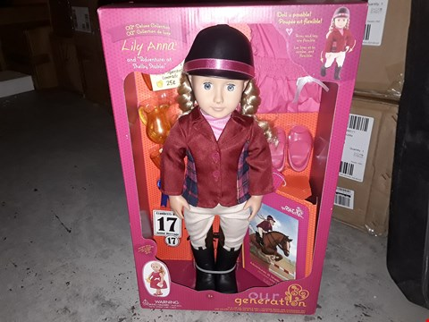 """Lot 654 BRAND NEW BOXED OUR GENERATION 'LILY ANNA'  18"""" POSEABLE DOLL RRP £65.00"""