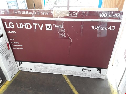 "Lot 1039 LG 43"" ULTRA HD, 4K HDR, FREEVIEW PLAY, SMART, LED TELEVISION MODEL 43UK6300PLB RRP £499.00"