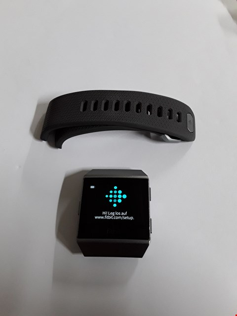 Lot 724 FITBIT IONIC FB503 - SMOKE GREY, GREY RUBBER STRAP