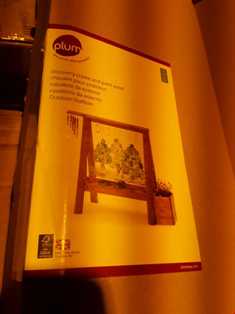 Lot 3618 BOXED PLUM DISCOVERY CREATE & PAINT EASEL (2 BOXES)