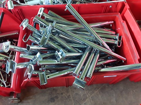 Lot 2028 BOX OF METAL RAILING FITTINGS
