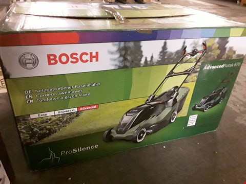 Lot 340 BOSCH ADVANCED ROTAK 670 CORDED LAWNMOWER RRP £213
