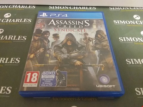 Lot 1056 ASSASSINS CREED SYNDICATE PLAYSTATION 4 GAME