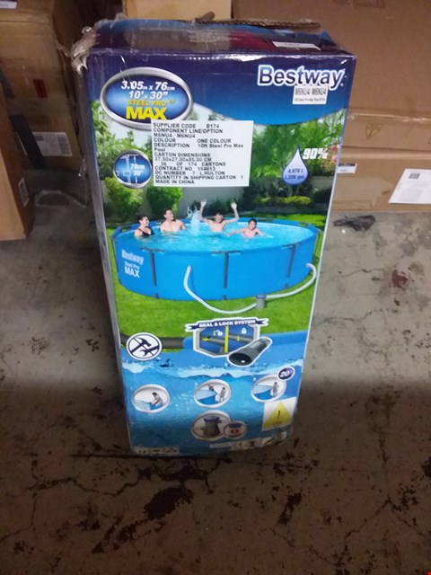 Lot 7082 BESTWAY 10FT STEEL PRO MAX POOL RRP £190.00