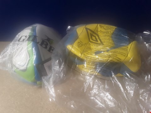 Lot 5021 TWO SPORTS BALLS, INCLUDING GILBERT REBOUNDER SIZE 5 AND UMBRO SIZE 5 GRASS BALLS