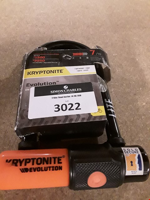 Lot 3022 KRYPTONITE EVOLUTION CYCLE LOCK