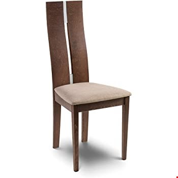 Lot 2002 BOXED GRADE 1 PAIR OF CAYMAN WALNUT/CREAM DINING CHAIRS