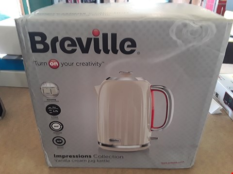 Lot 21 BREVILLE IMPRESSIONS COLLECTION VANILLA CREAM JUG KETTLE