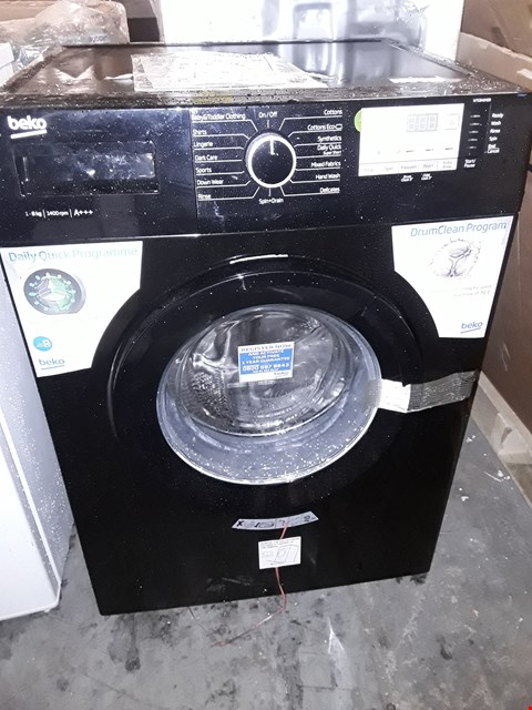 Lot 10039 BEKO BLACK 8KG WASHING MACHINE WTG841M2B RRP £359.99