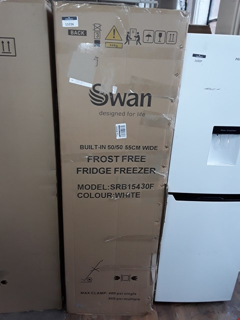 Lot 11036 SWAN SRB15430 INTEGRATED 50/50 FRIDGE FREEZER