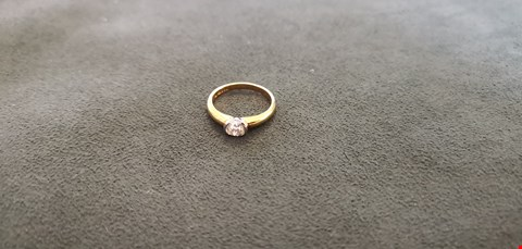 Lot 67 18CT GOLD RING RUB OVER SET WITH OLD CUT DIAMOND WEIGHING +0.73CT  RRP £2700.00