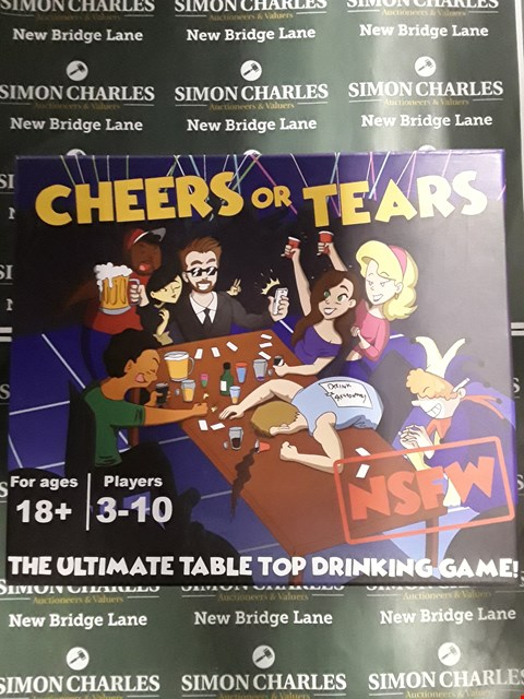 Lot 735 BOXED CHEERS OR TEARS THE ULTIMATE TABLE TOP DRINKING GAME