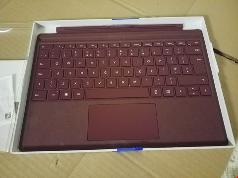 Lot 8031 MICROSOFT BURGANDY KEYBOARD