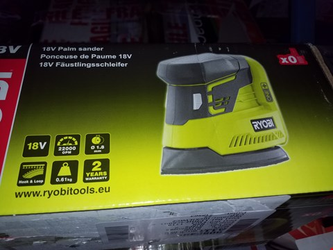 Lot 12123 RYOBI R18PS PALM SANDER