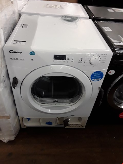 Lot 12135 CANDY SMART TOUCH 8KG CONDENSER DRYER IN WHITE