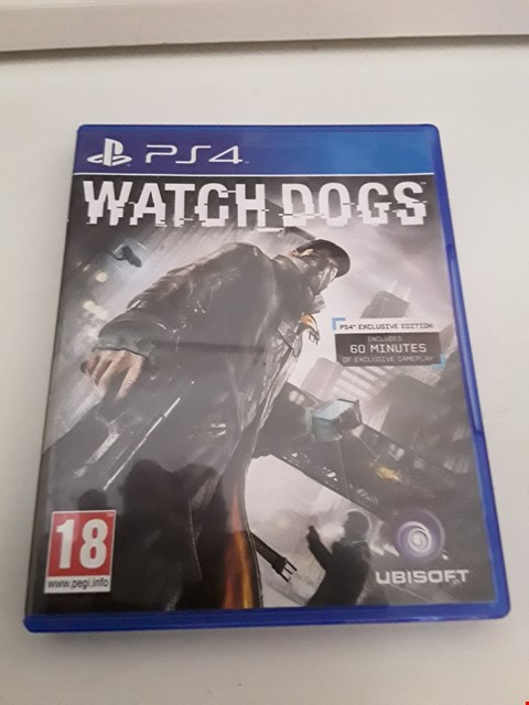 Lot 10 WATCH DOGS 2 PLAYSTATION 4 GAME