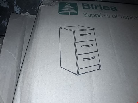 Lot 7119 BOXED LYNX 3 DRAWER BEDSIDE CABINET