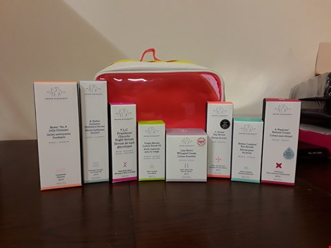 Lot 7021 DRUNK ELEPHANT TRAVEL SET CONTAINS JELLY CLENSER, DAY SERUM, NIGHT SERUM AND RETINOL CREAM ECT