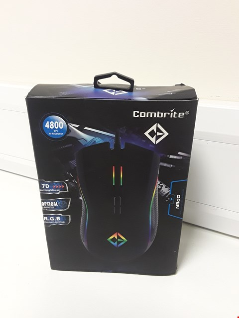 Lot 4683 BOXED COMBRITE RGB LED GAMING MOUSE GM205