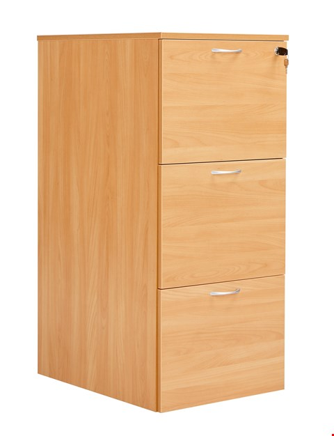 Lot 12040 BRAND NEW BOXED WORKMODE 3 DRAWER FILING CABINET - BEECH