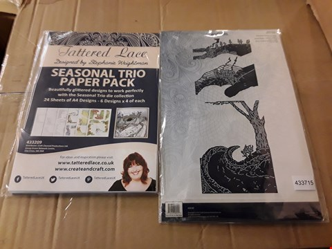 Lot 2374 APPROXIMATELY 70 BRAND NEW TATTERED LACE CRAFT ITEMS