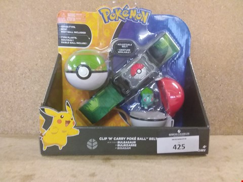 Lot 425 BRAND NEW BOXED POKEMON CLIP 'N' CARRY POKE BALL BELT