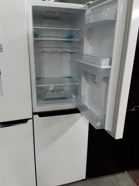 Lot 12061 HISENSE WHITE FRIDGE FREEZER WITH WATER DISPENSER MODEL RB335N4WW1