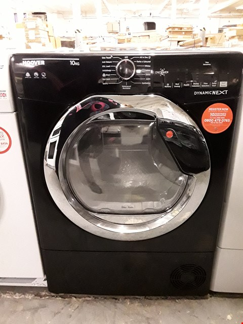 Lot 34 HOOVER DYNAMIC NEXT DX C10TCEB-80 FRONT-LOADING ELECTRIC DRYER - 10 KG - BLACK RRP £379