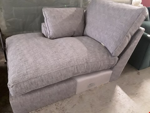 Lot 95 QUALITY DESIGNER BRITISH MADE STAMFORD DARK GREY FABRIC CHAISE SECTION WITH BOLSTER CUSHION