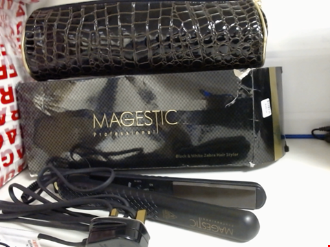 Lot 6518 MAGESTIC PROFESSIONAL HAIR STYLER STRAIGHTENERS WITH BAG