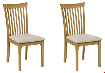 Lot 3521 BOXED IBSEN LIGHT OAK PAIR OF DINING CHAIRS RRP £99.99