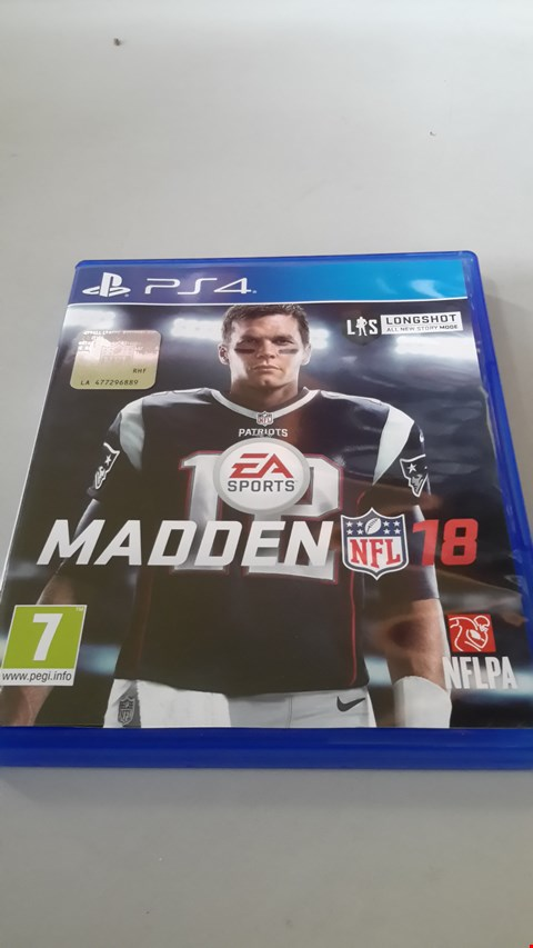 Lot 9007 MADDEN NFL 18 FOR PS4