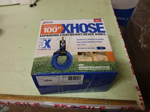 Lot 1198 LOT OF 6 X BOXED XHOSE 100FT EXPANDING GARDEN HOSES