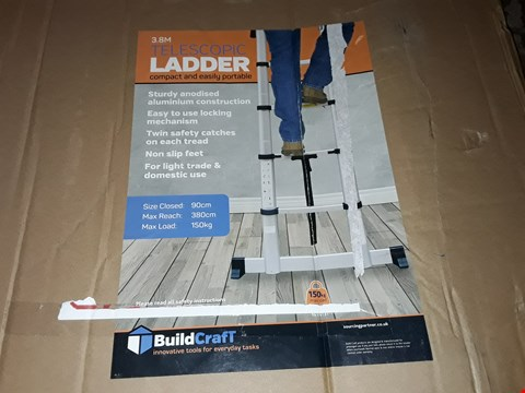 Lot 68 BUILDCRAFT 3.8M TELESCOPIC LADDER