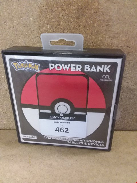 Lot 462 BRAND NEW BOXED POKEMON POWER BANK
