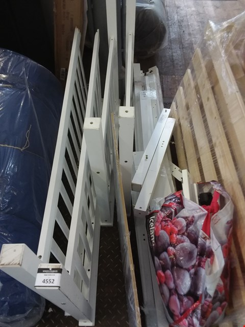 Lot 2050 UNBOXED BEDFRAME PARTS FOR APPROXIMATELY 140CM MATTRESS  - WHITE