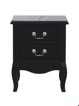 Lot 65 BOXEDNEW ELYSEE 2 DRAWER BEDSIDE CABINET WITH PLAIN FRONT (1 BOX) RRP £169.00