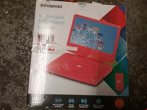 "Lot 1085 2 × BOXED POLAROID 9"" PORTABLE DVD PLAYERS"