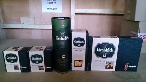Lot 3472 A SET OF 2 ASSORTED ITEMS INCLUDING A GLENFIDDICH LOVERS SET AND A FREIXENET CAVA & CHAMPAGNE TRUFFLES. RRP £65.00