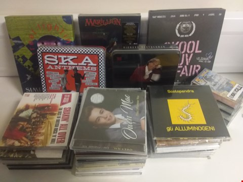 Lot 1085 BOX OF APPROXIMATELY 34 ASSORTED CD'S AND CASSETTES TO INCLUDE SCREAMING TREES, DIONNE WARWICK, MARILLION ETC