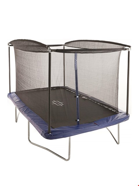 Lot 28 2 BOXES SPORTSPOWER 12 X 8FT RECTANGULAR TRAMPOLINE WITH EASI-STORE BOX 2 OF 2'S(INCOMPLETE) RRP £291.99