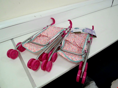 Lot 802 LOT OF 2 ASSORTED DESIGNER BABY DOLL FOLDAWAY PUSHCHAIRS