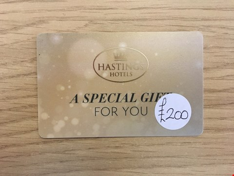 Lot 17 HASTINGS HOTELS £200 GIFT CARD