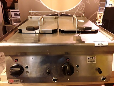 Lot 3100 BARON COUNTER TOP TWIN TANK ELECTRIC DEEP FAT FRYER