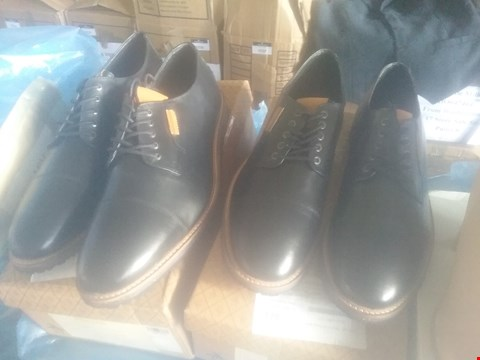 Lot 7061 BAG OF APPROXIMATELY 10 ASSORTED ITEMS OF FOOTWEAR TO INCLUDE PENGUIN YOKO DERBY BLACK SHOES