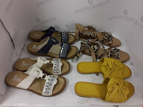 Lot 898 LOT OF APPROXIMATELY 5 ASSORTED DESIGNER FOOTWEAR ITEMS TO INCLUDE MODA IN PELLE, BRONX, RIEKER ETC