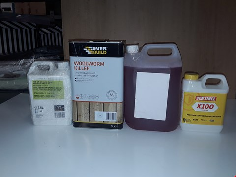 Lot 201 LOT OF 4 ASSORTED LIQUID ITEMS TO INCLUDE WOODWORM KILLER, NAF OFF CITRONELLA SPRAY