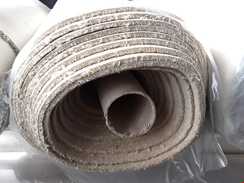 Lot 2196 ROLLED VARIETY TRIALS BEIGE CARPET - MEASURES APPROXIMATELY 10M X UNSPECIFIED