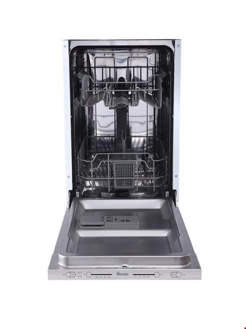Lot 46 BOXED SWAN SDWB7010W 9-PLACE SLIMLINE INTEGRATED DISHWASHER RRP £329